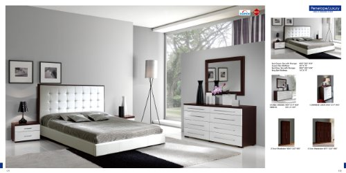 ESF 622 Penelope & Luxury Combo Modern King Size Bedroom Set with Storage