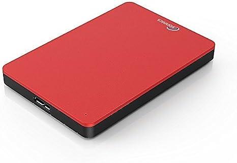 Sonnics 320GB Rojo Disco duro externo portátil de Velocidad de transferencia ultrarrápida USB 3.0 para PC Windows, Apple Mac, Smart TV, XBOX ONE y PS4: Amazon.es: Informática