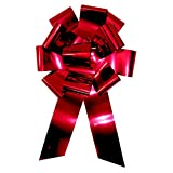 "Forum Metallic Car Bow, 25"", Red"