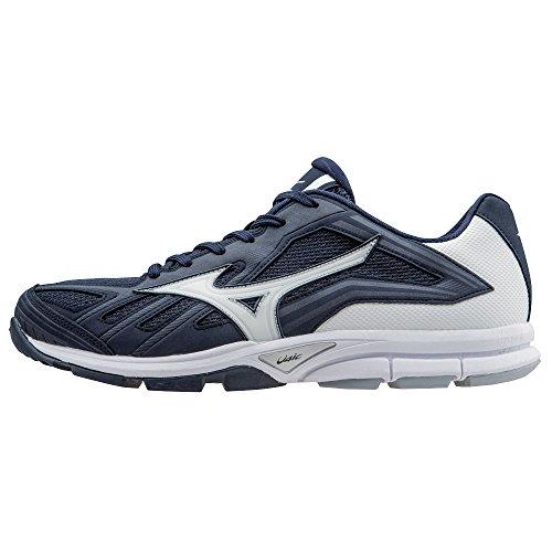 Mizuno Men's Players Trainer Baseball Training Shoe - Navy & White (Men's 14) (Shoes Mizuno Training Baseball)