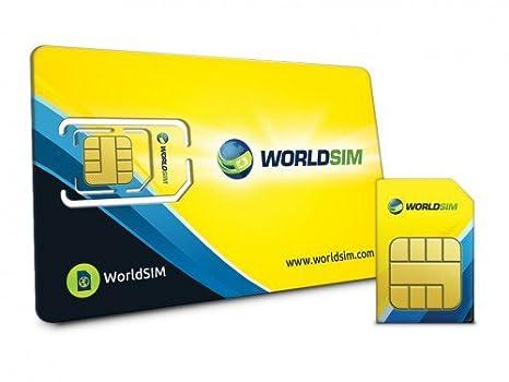 Tarjeta SIM Internacional WorldSIM, Incluye 27 dólares de ...