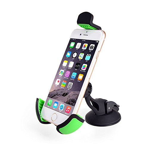 Car Mount,Universal Cell Phone Holder Stand on Windshield Dashboard for Iphone,Samsung,Nokia,HTC,LG and More Smartphones Green
