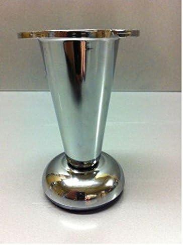 2 x aluminium metal chrome jambes en acier pour meubles canapé cabinet table nm-003