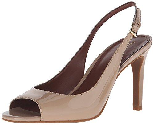 Cole Haan Women's Juliana Open Toe Sling Dress Sandal, Maple Sugar, 10 B US (Patent Open Toe Slingback Pump)