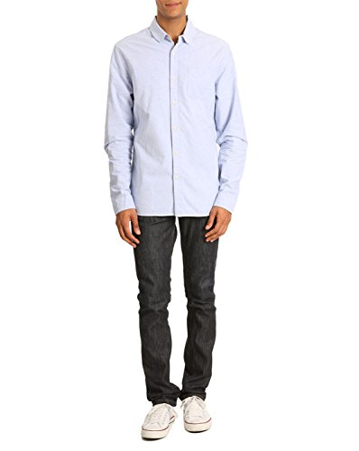 Scotch And Soda - - Homme - Chemise Oxford Col Claudine Bleu pour homme - S