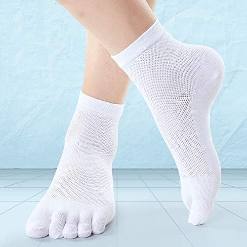 XIAOXUQ Calcetines de algodón de Cinco Dedos para Hombre ...