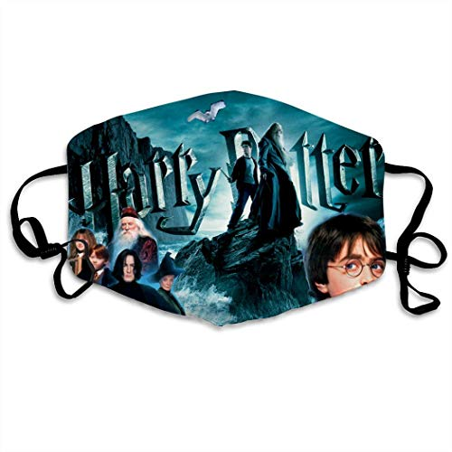 PPKIBYY2 Harry Po-tter Wallpaper Washable Reusable Unisex Mask Indoor Outdoor Cycling Camping Travel Windproof Sun Anti Dust Mask Mouth with Adjustable Ear Loops