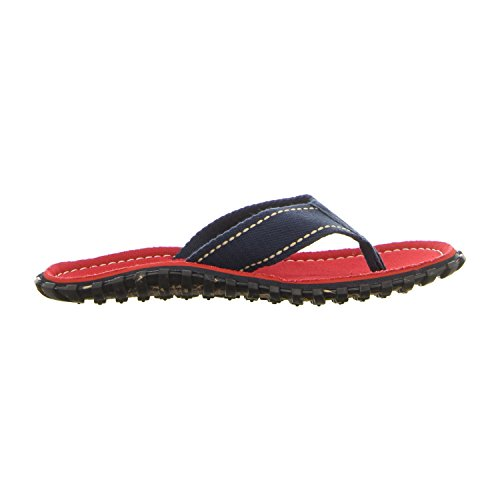 Gumbies ISLANDER Unisex Canvas Flip Flops Manly Red Red Coast