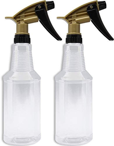 - Bar5F Empty Plastic Spray Bottles 16 Ounce, Pack of 2, Acid and Chemical Resistant for Auto Detailing, Heavy Duty, N11 Fully adjustable sprayer head