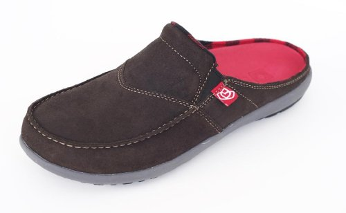 Spenco Siesta - Mens Slide Waxed Suede Dark Chocolate - (Dark Slide)