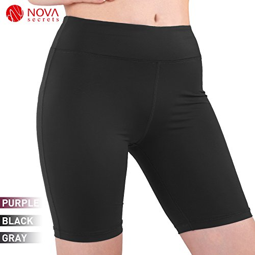 JBM international Women's Yoga Workout Short Pants Capri Leggings for Gym Clothes Juniors Cropped Skirted