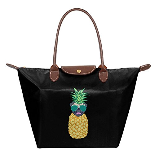 OUDE Pineapple Pug Fashion Ladies Folding Dumpling - Chicago Malls Best Outlet In