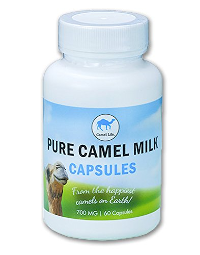 Camel Life/Camel Milk Capsules – Pure Camel Milk/biologically active protective proteins, calcium, iron, lactoferrin, vitamins B1, B2 and C/energy performance boosting / 60 – 700mg caps