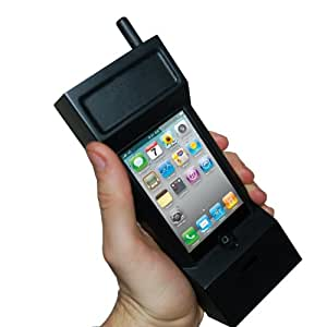 Thumbs Up UK 80s Retro Case for iPhone 3GS and 4 - Retail Packaging - Black (Discontinued by Manufacturer)
