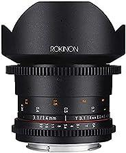 Rokinon Cine DS DS14M-N 14mm T3.1 ED AS IF UMC Full Frame Cine Wide Angle Lens for Nikon