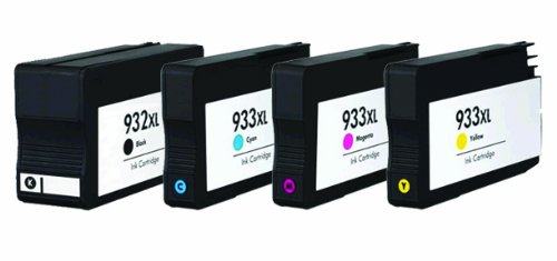 Yunet Remanufactured Ink Cartridge Replacement for HP 932XL (Black,Cyan,Magenta,Yellow,4-Pack)