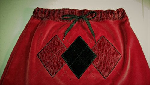 Red and Black Velvet Skirt - UPcycled Skirt - Matching Mittens, Repurposed Skirt, Upcycled Mittens, Upcycled Clothing