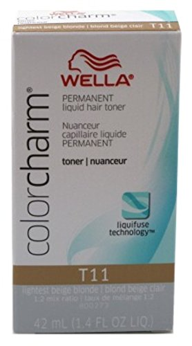 ( Wella Color Charm Liquid Toner #T11 Lightest Beige Blonde (42ml) )