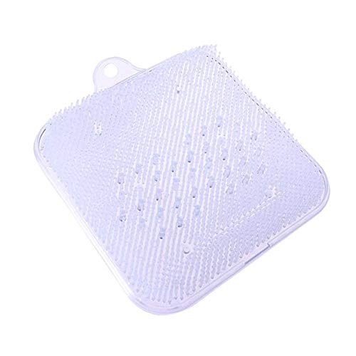Foot Massage Mat, LEEGOAL Comfortable Non-slip Clear Bath Mat Foot Scrubber Mat Shower Mat with Suction Cup for Spa Yoga Exercise Massage