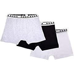 Hugo Boss Men's Dynamic Stretch Cotton 3 Pack Boxer Trunk Underwear (Black/White/Grey) Size Medium. Comes with 3 in a pack, Colors: Black, White, and Grey. Item Type: Trunks. Material: 95% Cotton 5% Elastane. Size Medium. Dynamic Stretch Cott...