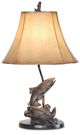 Fish table lamp 25h antique bronzegrecian bronze amazon fish table lamp 25quotquoth antique bronzegrecian bronze aloadofball Image collections