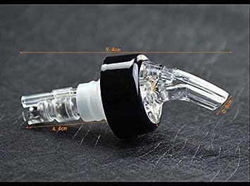 10pcs Pack of 10 30 mL 1 oz Quick Shot Spirit Measure Pourer Drinks Wine Cocktail Dispenser Home Bar Tools Automatic Measured Bottle Pourer PORE0016