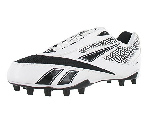 Reebok U-Form 4 Speed Low Black and White Football Cleats Size 12