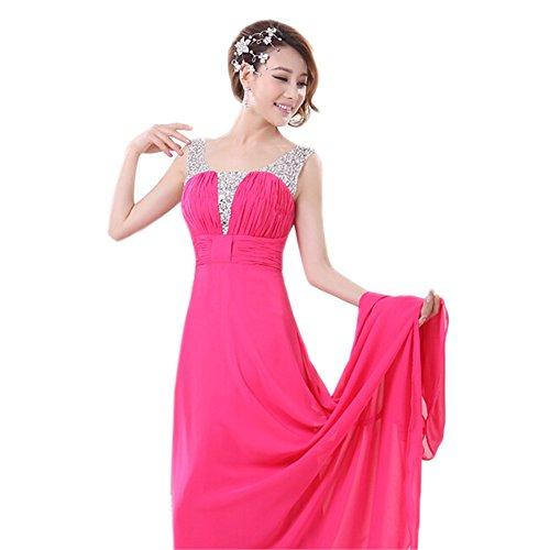 Red Kleid Drasawee Damen Empire Rosy OqwxqBYI6