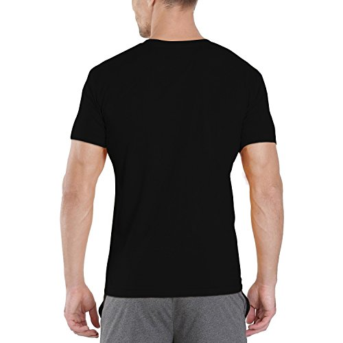 Pooplu Mens Thanks to Indian Air Force Cotton Printed V Neck Half Sleeves Black & White t.Shirt. Independence Day, India…