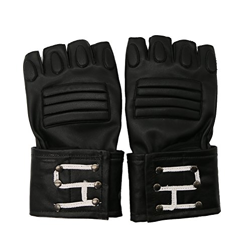 [Ghost Gloves Busters Deluxe PU Adult Cosplay Costume Props Accessory Xcoser] (Deluxe Black Polyester Gloves)