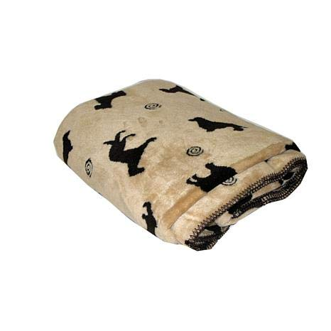 Carolina Pet 015460 Plush Embossed Tossed Dog Throw - Beige44; Small