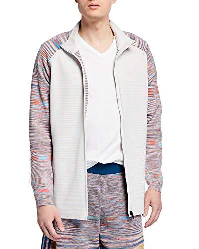 adidas X Missoni Men's Running P.H.X. Full Zip-Front Water Repellent Jacket (Large, Black/White/Grey) ()