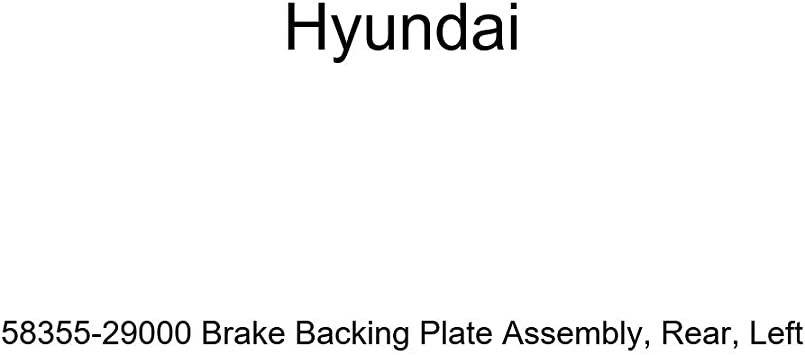 Left Genuine Hyundai 58355-29000 Brake Backing Plate Assembly Rear
