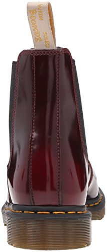 Dr. Martens Mens 2976 Cambridge Brush Chelsea Boot Vegan Cherry Red