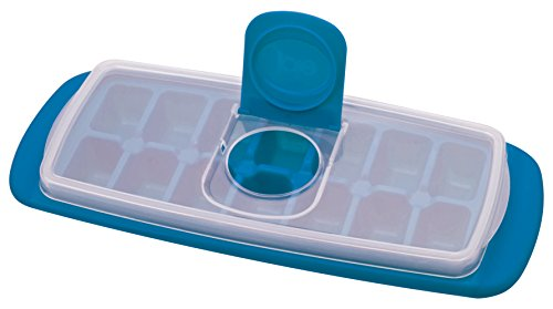MSC International Joie No Spill Covered Ice Cube Tray with Lid, BPA-Free Plastic, 14-Cubes (Ice Plastic Tray Cube)
