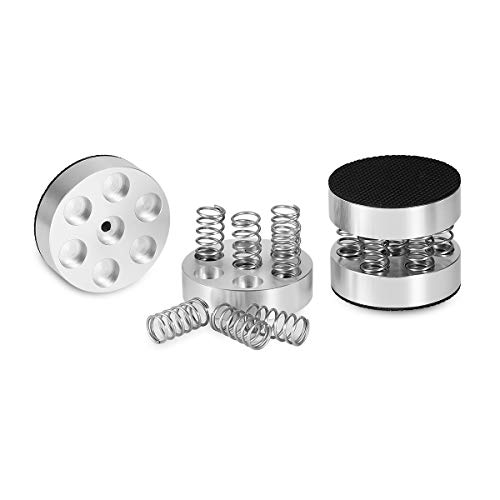Nobsound 4PCS Silver Aluminum Spring Speakers Spikes Isolation Stand for HiFi Amplifiers by Douk Audio (Image #8)