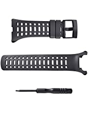 SENCATO Suunto Ambit3 Peak Soft Rubber Replacement Band, Smart Watch Wrist Strap, Black