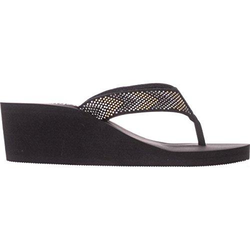 Callisto Womens Jester Open Toe Casual Slide Sandals Black d9muj