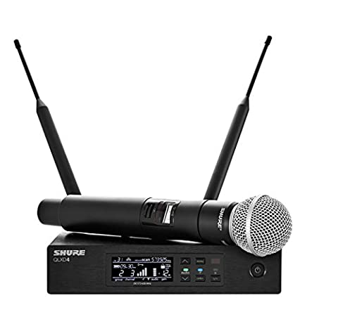 Shure QLXD24/SM58 Handheld Wireless System with SM58 Vocal Microphone, H50 (Shure Ulx Wireless Microphone)