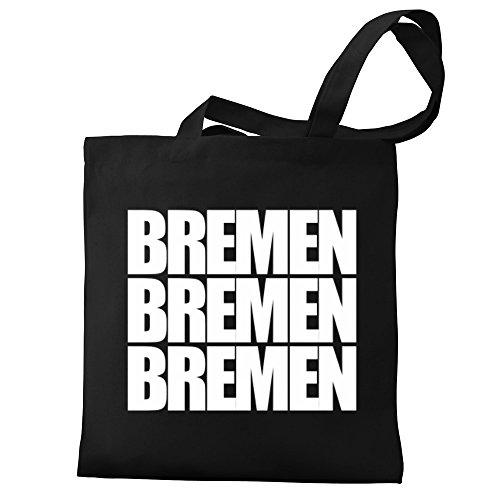 Eddany Bag Bremen Tote three Eddany Bremen Canvas words wxq71Sq5C