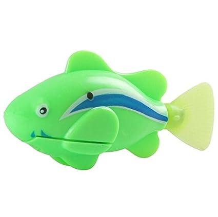 LadyBeauty - Juguete electrónico para Gato, pez, Robot de pez, Mini ...