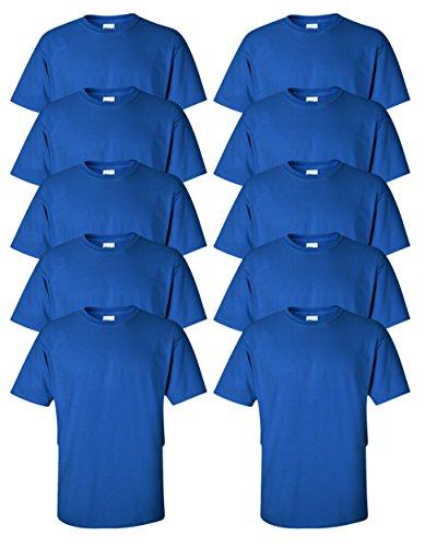 Gildan mens Ultra Cotton 6 oz. - T-shirt Time Big Blue