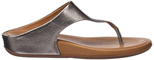 Fitflop Women's Banda Platform Sandals, Silver Brown (Bronze 012)