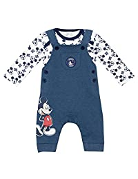 Disney Baby Boys' Mickey Mouse Overalls Set