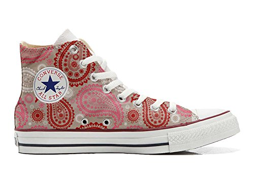 mys Converse All Star Customized - zapatos personalizados (Producto Artesano) Red Pink Paisley