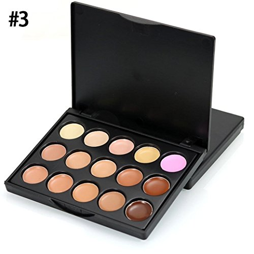 CMrtew CMrtew Eyeshadow MIni 15 Colors, Face Concealer Camouflage Cream Contour Palette (C)