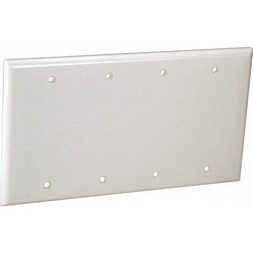 OP43-W 4-G Wall Plate - Blank Wht