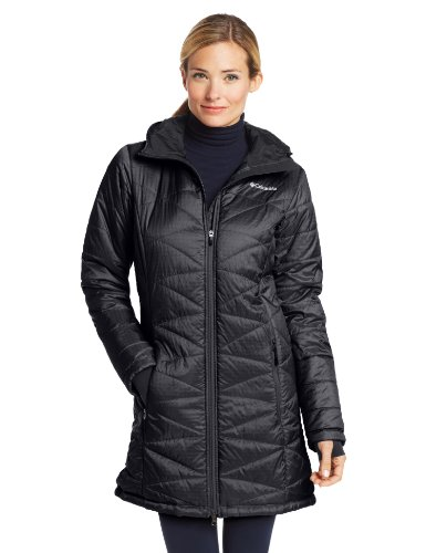 Columbia Women's Mighty Lite Hooded Jacket, Black, Small (Full Quilted Zip Coat)