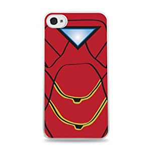 Iron Man Minimal White Designer Protective Case Cover for Apple iPhone 4 / 4S