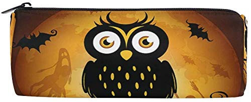 Harajuku Halloween Makeup (Pen Stationary Bag for Student Girl Boy Kids Halloween Moon Owl Bat Pouch Purse Harajuku Zipper Cosmetic Makeup Bag Pencil)